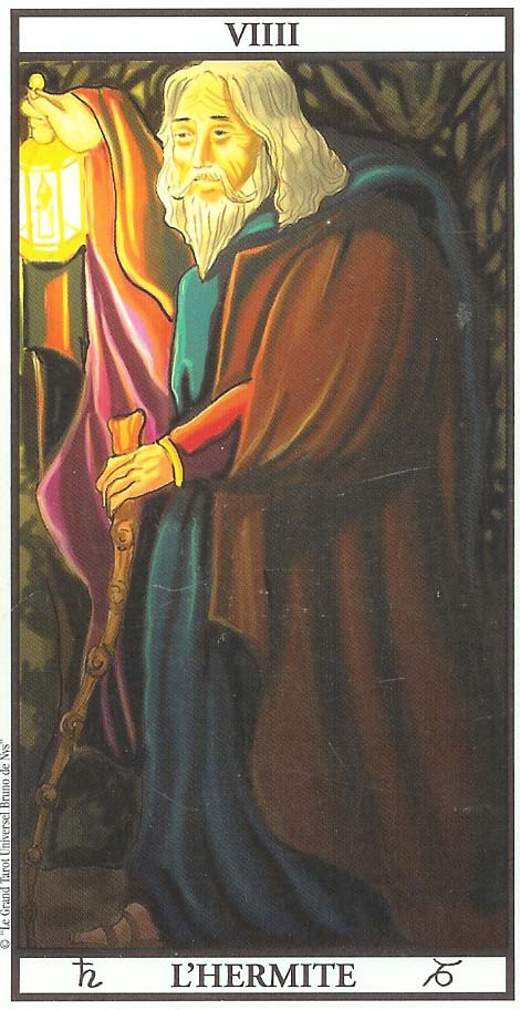 L'Hermite du tarot - Silence et Sagesse dans Messages de sagesse LHermite
